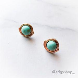 Turquoise Art Deco Earrings